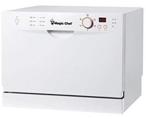 Magic Chef MCSCD6W3 Portable Countertop Dishwashers