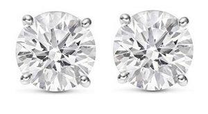 Chandni Jewelers Round Diamond Stud Earrings