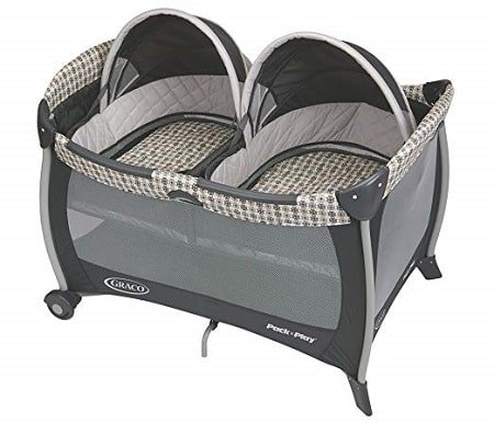Graco Pack and Play Playard with Twins Bassinet