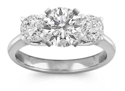 Three Stones Engagement Ring