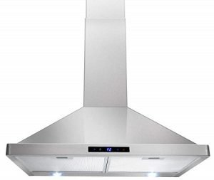AKDY Kitchen Wall Mount Stainless Steel Touch Range Hood