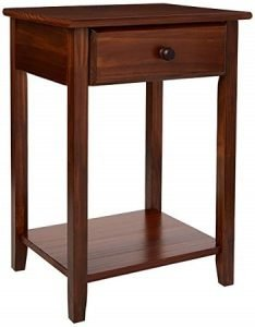 Casual Home 647-24 Night Owl Bedroom Side Table