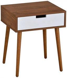 Light Walnut Side/End Table Nighstand