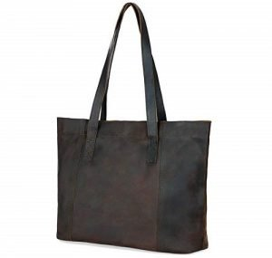 Love and Accompany Genuine Leather Tote Bag