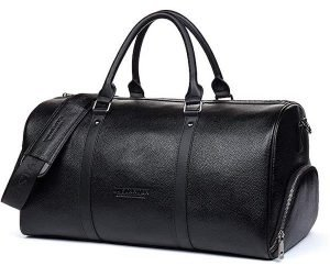 BOSTANTEN Genuine Leather Travel Weekender Overnight Duffel Bag