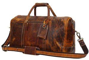 Handmade Leather Travel Duffel Bag
