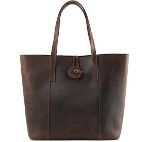 Kattee Women's Vintage Cow Leather Tote Bag