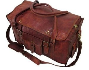 Mens Retro Carry-On Luggage Leather Duffel Bag