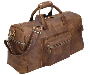 Polare Duffel Leather Weekender Travel Duffel luggage Bag