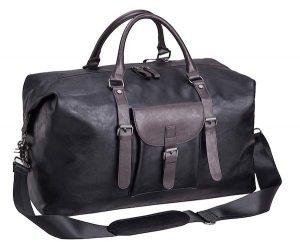 Seyfocnia Oversized Leather Travel Duffel Bag