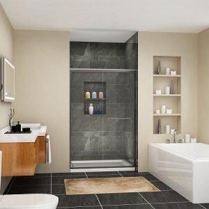 SUNNY SHOWER Semi-Frameless Glass Sliding Shower Doors Review