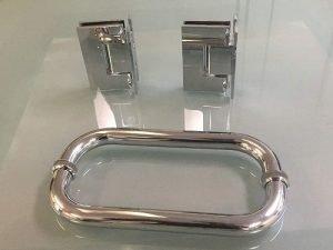 Tropical Art Glass Frameless Shower Door