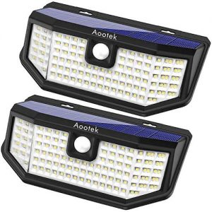 Aootek 120 LED Solar outdoor lights