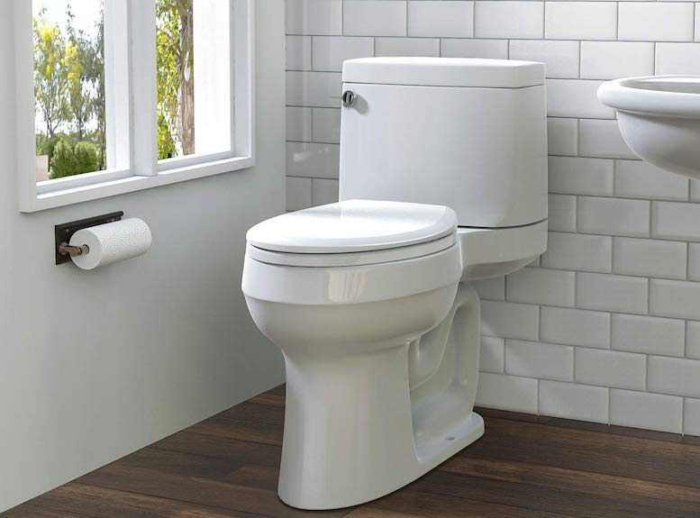 Self closing toilet seat mirror light with shaver socket