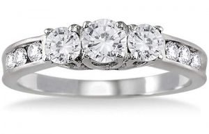AGS 1 Carat TW Three Stone Diamond Ring