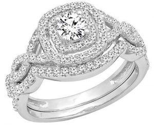 Dazzlingrock Halo Engagement Ring