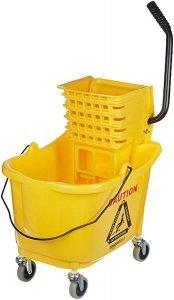 AmazonBasics Side Press Wringer Combo Commercial Mop Bucket