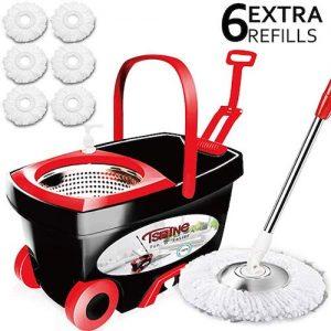 Tsmine Spin Mop & Bucket Floor Cleaning System