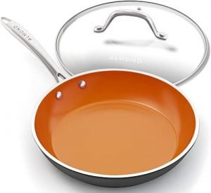 Almond Nonstick Ceramic Copper Frying Pan