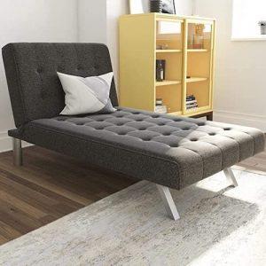 DHP Emily Linen Chaise Lounger