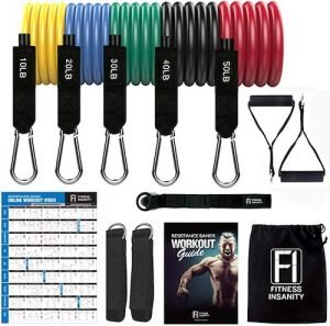 Fitness Insanity Resistance Bands Set