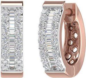 Finerock Carat Diamond Hoop & Huggies Earrings