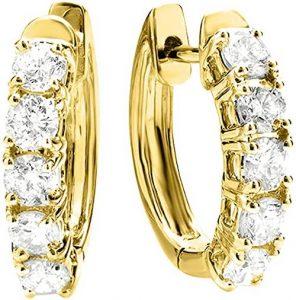 Houston Diamond District Hoop Diamond Earrings