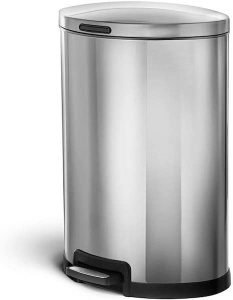 Home Zone Kitchen Stainless Steel Trash Can