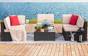Devoko Outdoor Rattan Patio Furniture