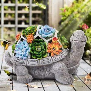 LESES Garden Statue Turtle